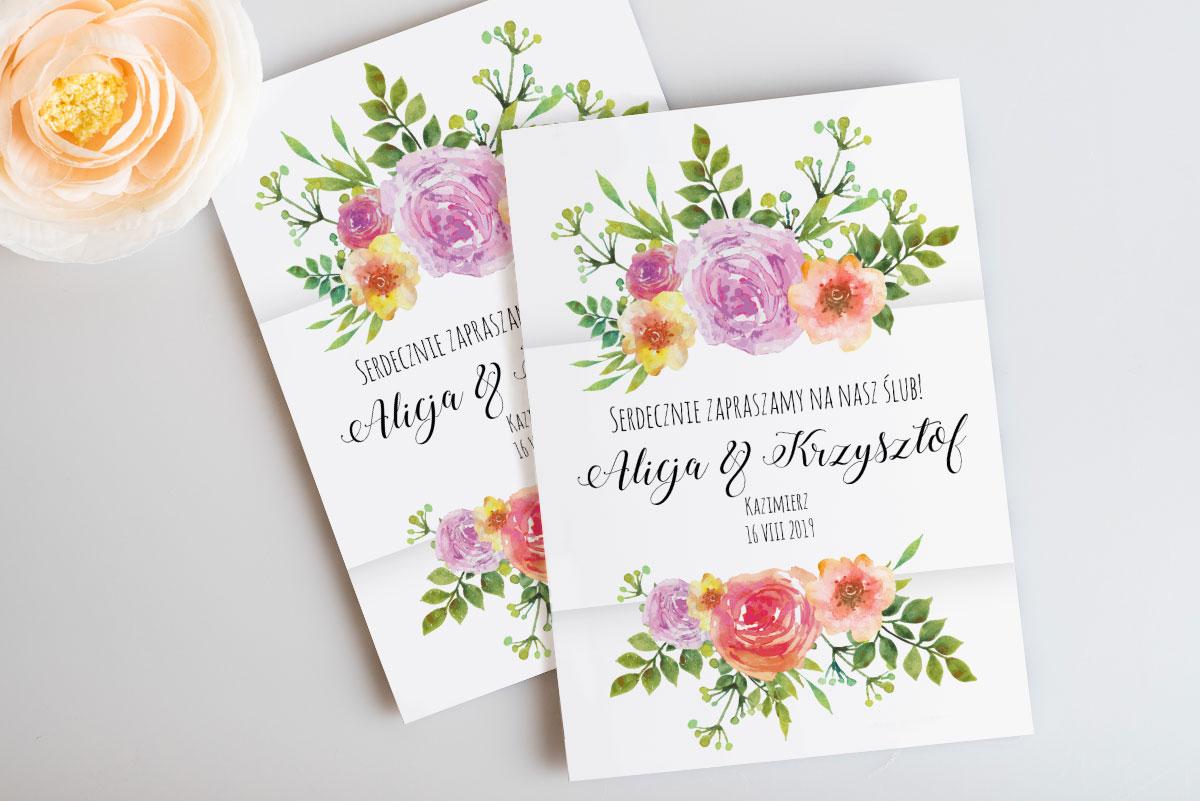 rustykalne-zaproszenie-slubne-botaniczne-akwarelowe-kwiaty-papier-satynowany