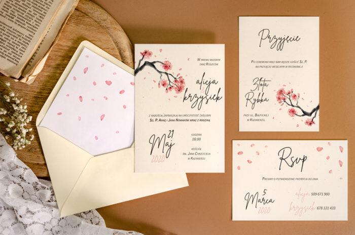 zaproszenie-slubne-jednokartkowe-recyklingowe-japonska-wisnia-papier-matowy-350g-koperta-b6-szara-bez-wklejki