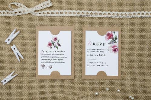 dodatkowa karteczka ze wzorem różowych kwiatów