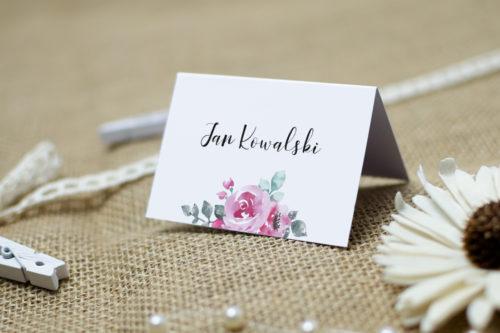 winietka z różową różą malowana akwarelą