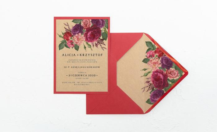 Bordowe-kwiaty-zaproszenie-czerwone