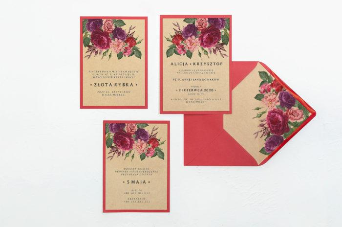 zaproszenie-slubne-boho-czerwoneeco-burgundowe-kwiaty-podkladki-ecob6-papier-eco-koperta-b6-szara-bez-wklejki