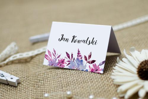 winietka weselna w fioletowe chabry