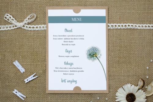 menu weselne we wzorze dmuchawca