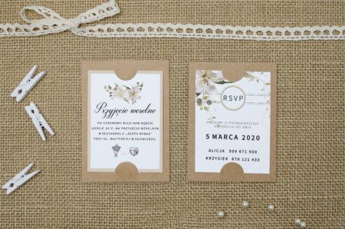 dodatkowa karteczka z liliami