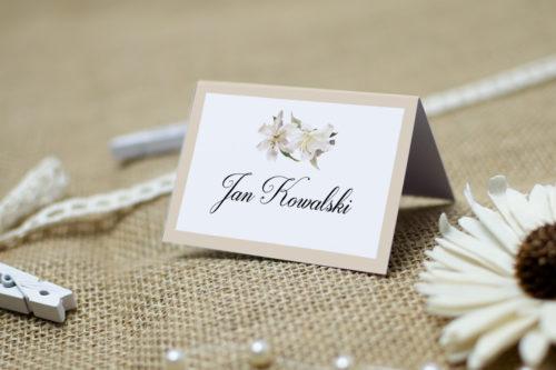 winietka ślubna białe lilie