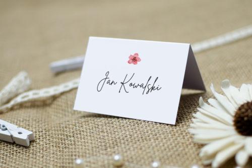 winietka ślubna z kwiatem wiśni