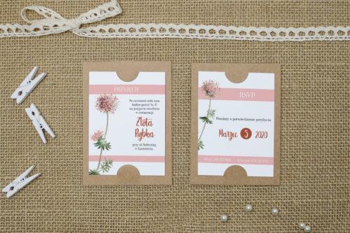 dodatkowa karteczka różowe kwiaty