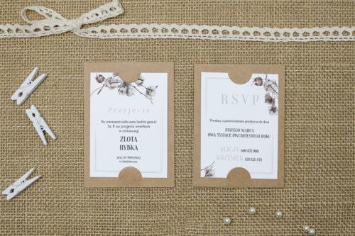 dodatkowa karteczka z kwiatem bawełny