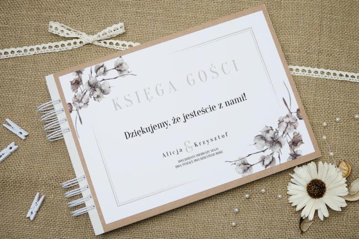 ksiega-gosci-slubnych-boho-recyklingowe-kwiaty-bawelny-podkladki-szara-do-ksiegi-gosci-dodatki-ksiega-gosci-papier-satynowany