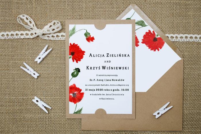 zaproszenie-slubne-boho-maki-podkladki-szarab6-papier-satynowany-koperta-bez-koperty