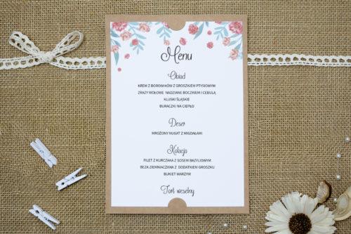 menu weselne w stylu piwonii chińskiej