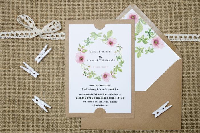 zaproszenie-slubne-boho-rozowy-wianek-podkladki-szarab6-papier-satynowany-koperta-bez-koperty