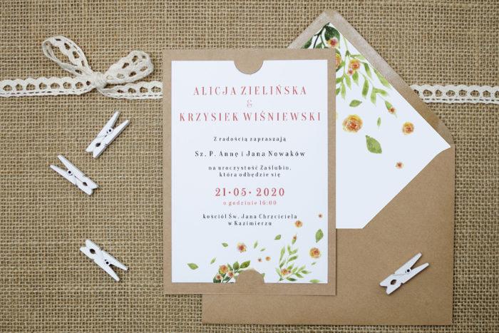 zaproszenie-slubne-boho-rozrzucone-kwiaty-podkladki-szarab6-papier-satynowany-koperta-bez-koperty