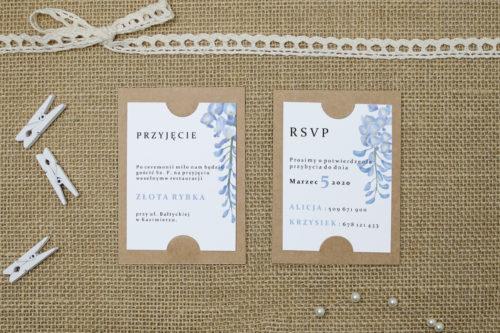 dodatkowa karteczka ze wzorem wisterii
