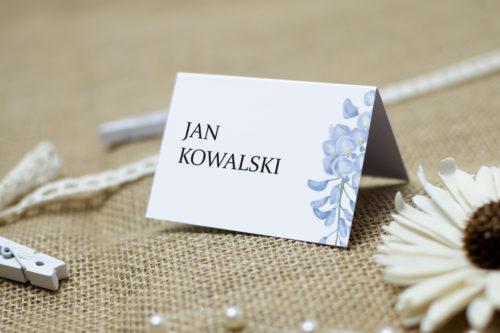 winietka ślubna we wzorze niebieskiej wisterii