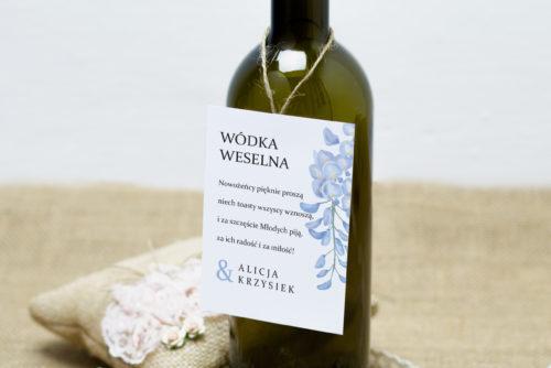 zawieszka na alkohol w niebieską wisterie