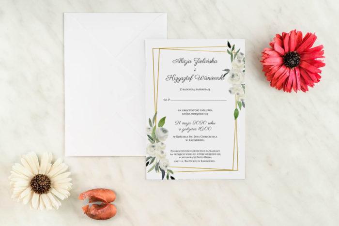 zaproszenie-slubne-jednokartkowe-biale-roze-papier-matowy-koperta-bez-koperty