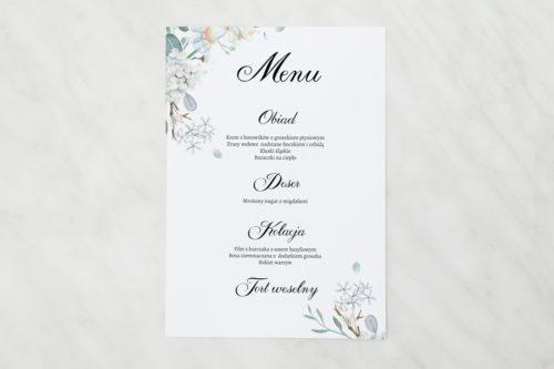 menu botaniczne subtelne