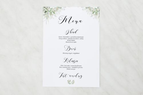 menu weselne w delikatne listki