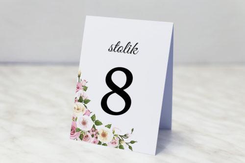 numer stolika pastelowe kwiaty