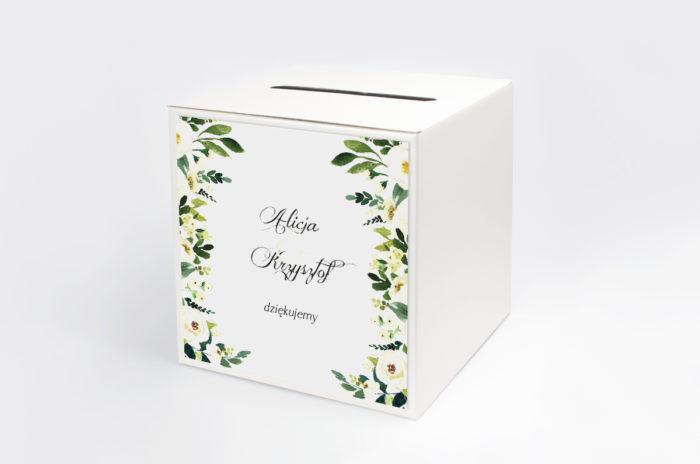 personalizowane-pudelko-na-koperty-do-zaproszen-eleganckich-z-kokarda-biale-kwiaty-papier-satynowany