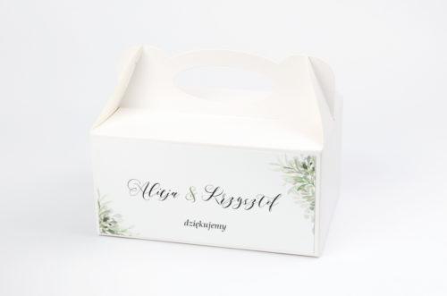 pudełko na ciasto w delikatne listki