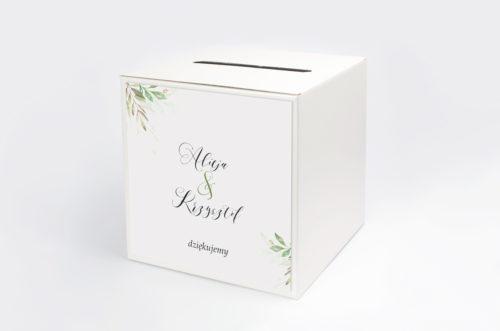 pudełko na koperty w delikatne listki