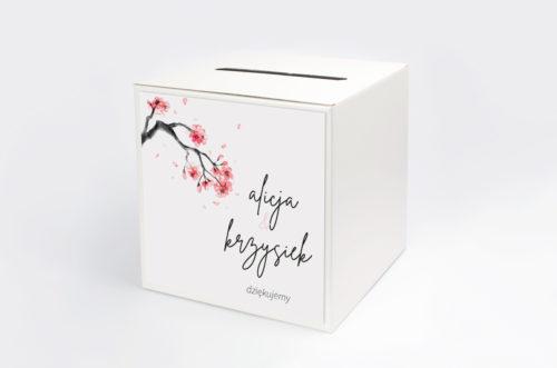 pudełko na koperty z motywem japońskiej wiśni