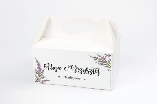 pudełko na ciasto we wzorze wrzosów