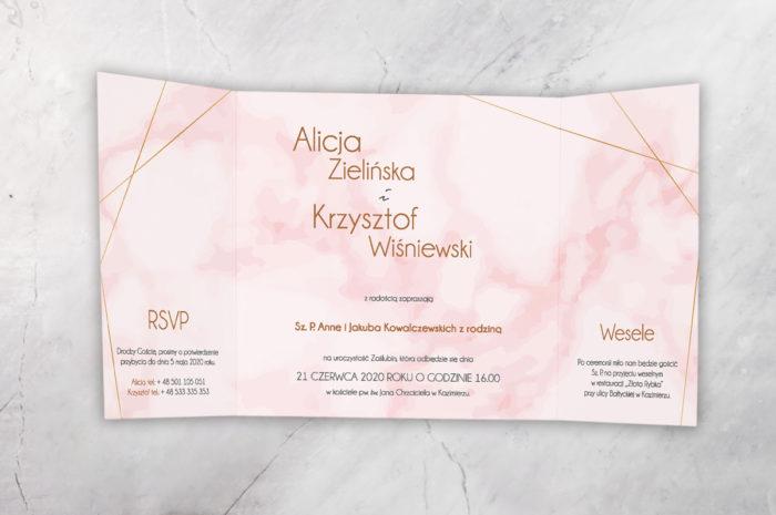 zaproszenie ślubne z nawami