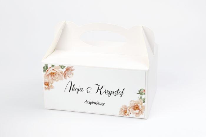 ozdobne-pudelko-na-ciasto-jednokartkowe-geometryczne-rozowe-kwiaty-papier-satynowany