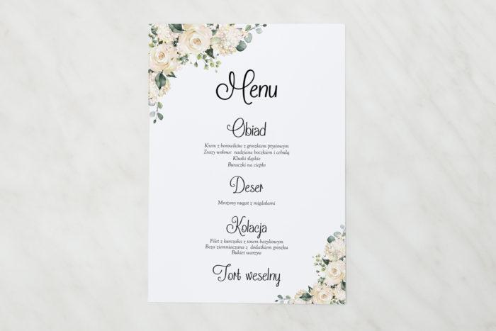 menu-weselne-biale-hortensje-papier-matowy