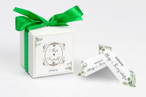 personalizowane pudełeczko na krówki botaniczne