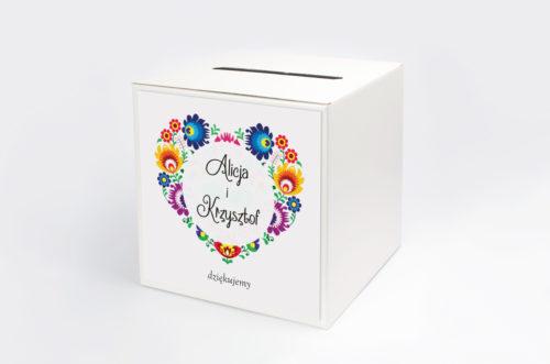 pudełko na koperty folk
