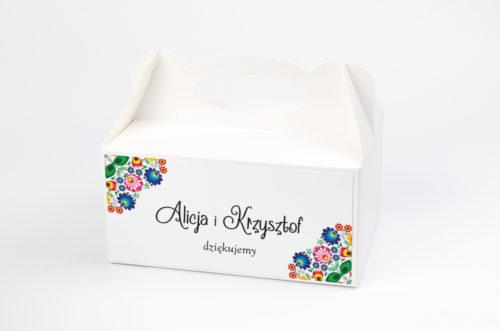 pudełko na ciasto folk