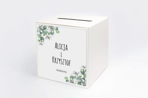 pudełko na koperty gipsówka