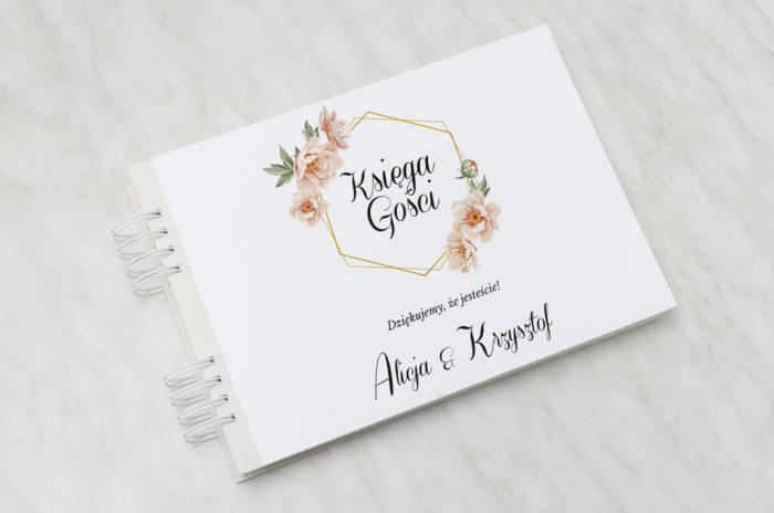 ksiega-gosci-slubnych-do-zaproszenia-jednokartkowe-geometryczne-rozowe-kwiaty-papier-matowy-dodatki-ksiega-gosci