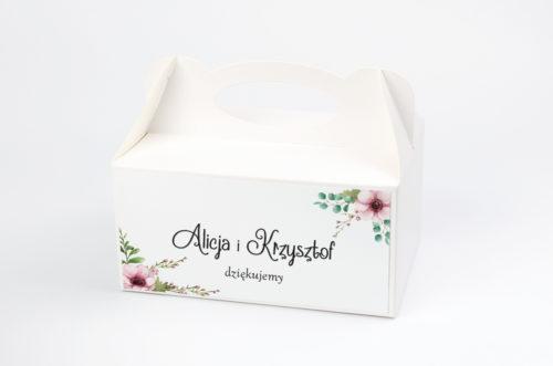 pudełko na ciasto w pastelowych kwiatach