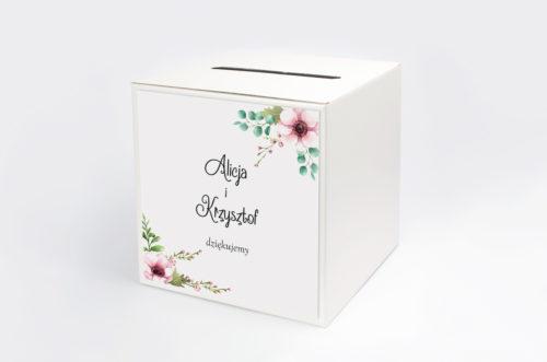 pudełko na koperty w pastelowych kwiatach