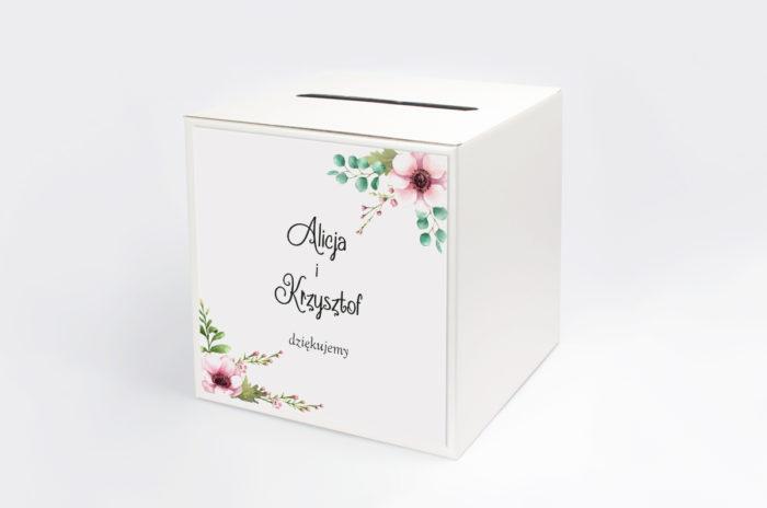 personalizowane-pudelko-na-koperty-pastelowe-kwiaty-papier-satynowany