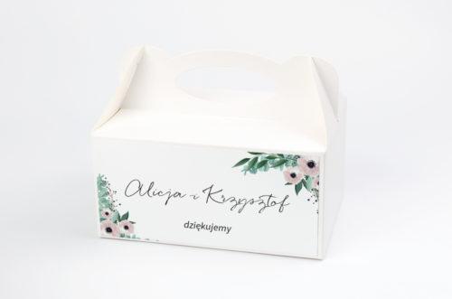 pudełko na ciasto anemony