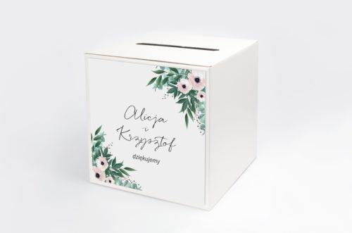 pudełko na koperty anemony