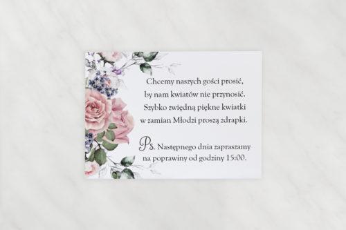 wkładka dodatkowa karteczka do zaproszeń pastelove