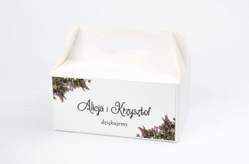 pudełko na ciasto z motywem wrzosowym