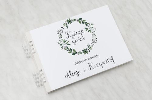 zielony wianek księga gości ślubnych