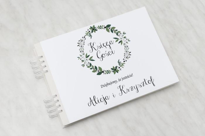 ksiega-gosci-slubnych-kwiaty-z-nawami-zielony-wianek-papier-satynowany-dodatki-ksiega-gosci