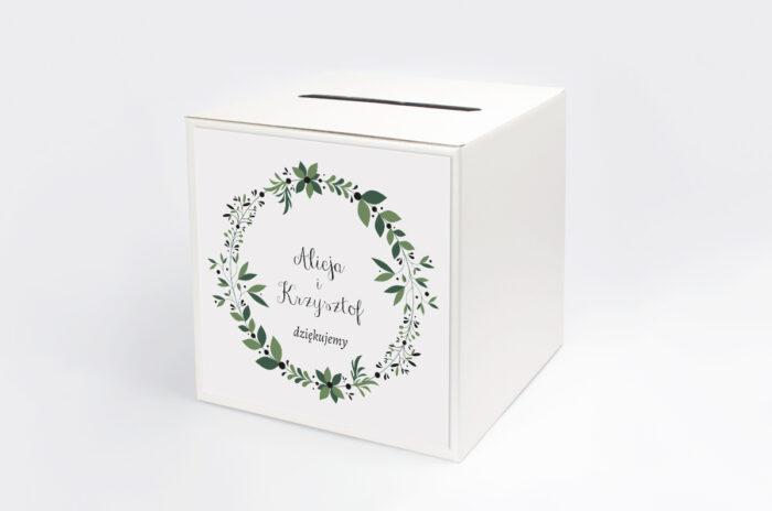 personalizowane-pudelko-na-koperty-kwiaty-z-nawami-zielony-wianek-papier--pudelko-