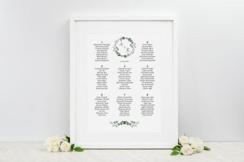 plan stolików weselnych