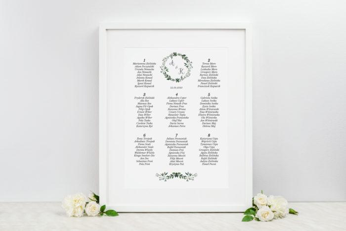 plan-stolow-weselnych-do-zaproszenia-kwiaty-z-nawami-zielony-wianek-dodatki-ramka-papier-satynowany